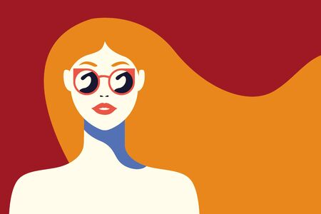beautiful woman fashionable with sunglasses vector illustration design