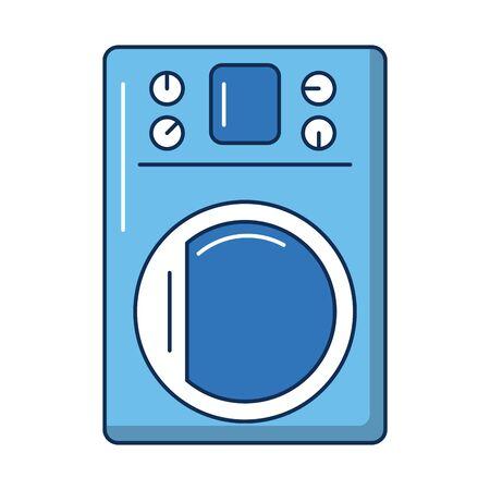 washing machine appliance isolated icon vector illustration design
