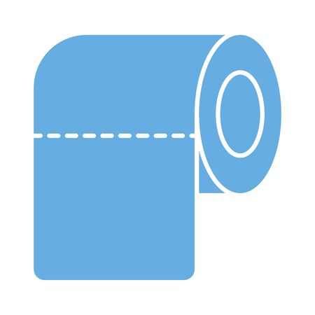 toilet paper roll isolated icon vector illustration design