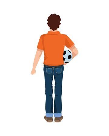 dear father with soccer ball vector illustration design Иллюстрация