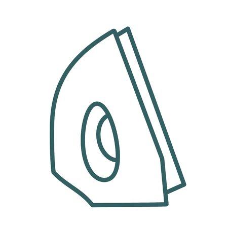 iron appliance line style icon vector illustration design