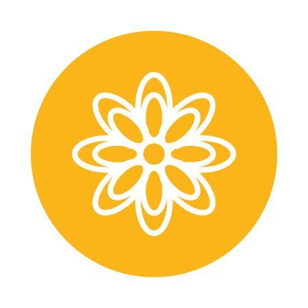 flower emblem ramadan kareem icon vector illustration design Ilustrace