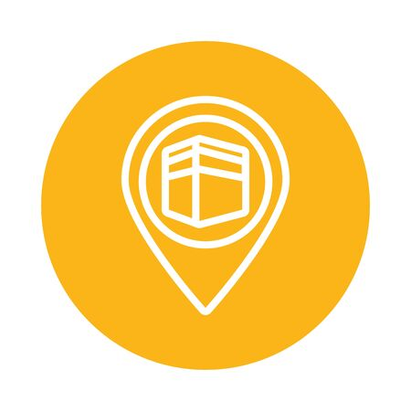 ramadam kareem temple line style icon vector illustration design