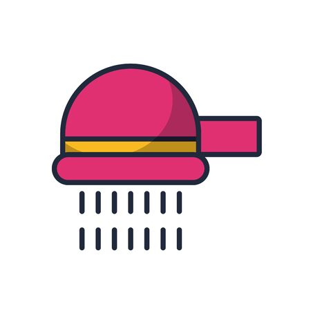 shower tap fill style icon vector illustration design