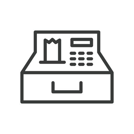register machine line style icon vector illustration design Reklamní fotografie - 147295124