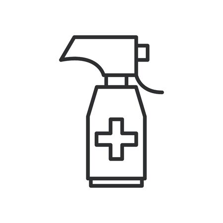 antibacterial soap bottle line icon vector illustration design