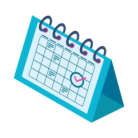 calendar reminder isometric style icon vector illustration design Иллюстрация