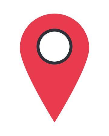 pin pointer location mark icon vector illustration design Ilustracja