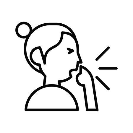 person coughing sick line style icon vector illustration design Illustration