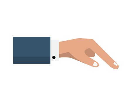 hand human giving isolated icon vector illustration design