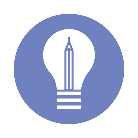 bulb light block style icon vector illustration design Standard-Bild - 147372096