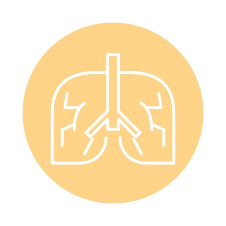 human lungs line style icon vector illustration design Illustration