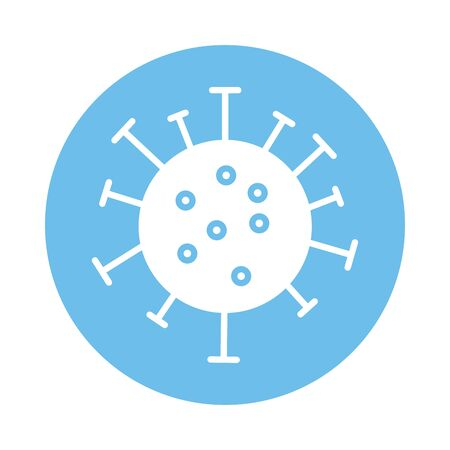 covid19 virus particle fill style vector illustration design