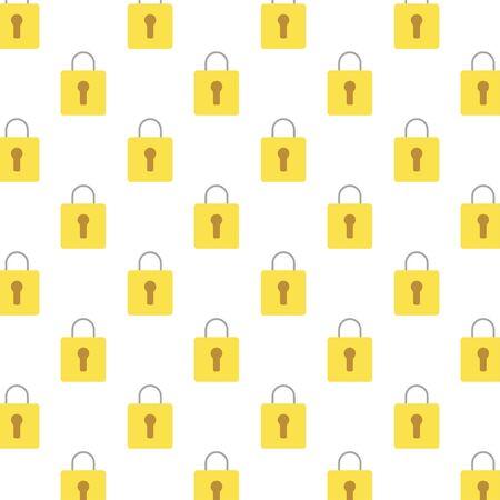 safe secure padlocks pattern background vector illustration design Imagens - 147399023