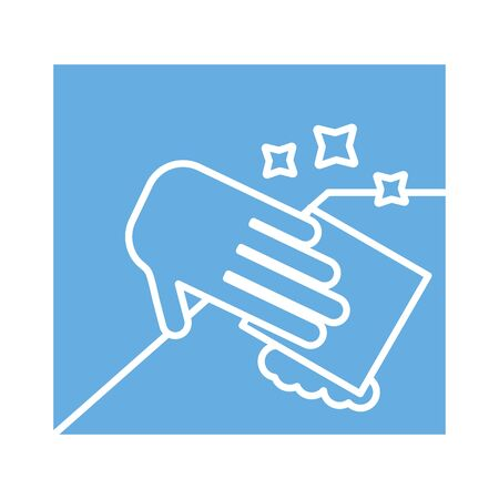 hand wiping line style icon vector illustration design