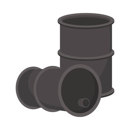 oil barrels tanks isolated icons vector illustration design