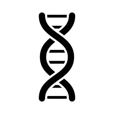 dna molecule silhouette style icon vector illustration design Çizim