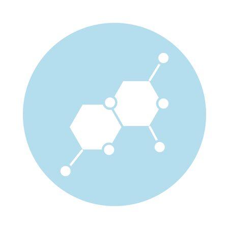 dna molecule block silhouette style icon vector illustration design