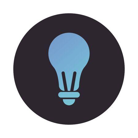 bulb light block style icon vector illustration design Standard-Bild - 147540742