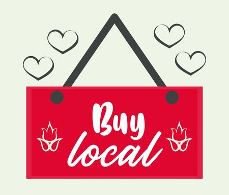buy local poster with label hanging vector illustration design Illusztráció