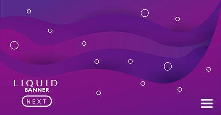 lettering in liquid banner color purple background vector illustration design