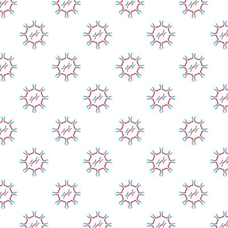 covid19 particles pandemic pattern background vector illustration design