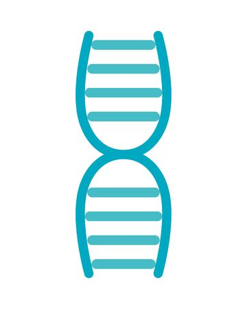 dna molecule flat style icon vector illustration design