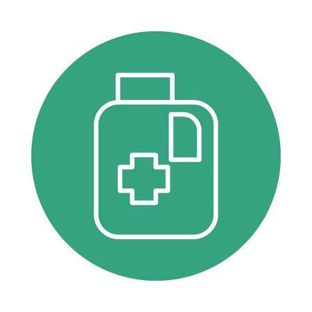 alcohol medical gallon block style icon vector illustration design  イラスト・ベクター素材