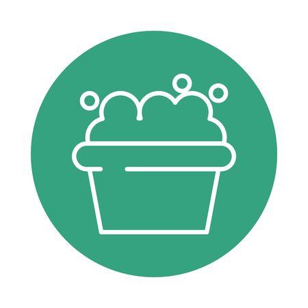bowl with foam block style icon vector illustration design  イラスト・ベクター素材