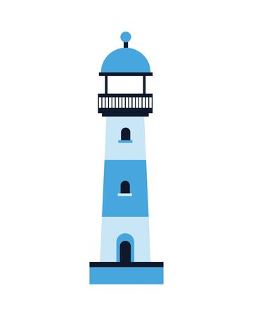 lighthouse sea building isolated icon vector illustration design Illusztráció