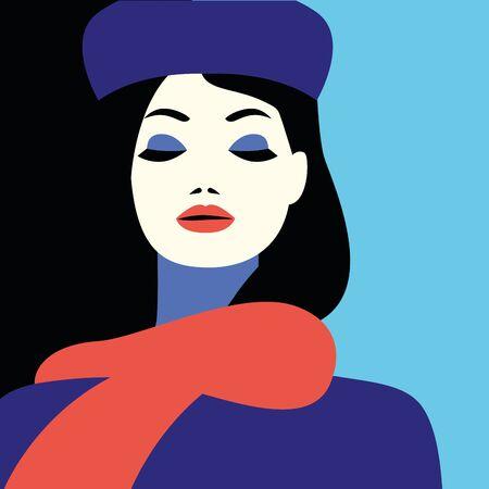 beautiful woman fashionable character icon vector illustration design