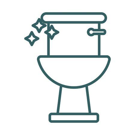 toilet bathroom line style icon vector illustration design