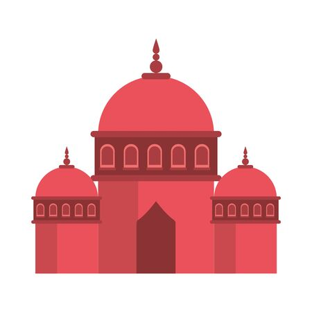 ramadan kareem mosque temple icon vector illustration design