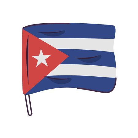 cuba flag country isolated icon vector illustration design