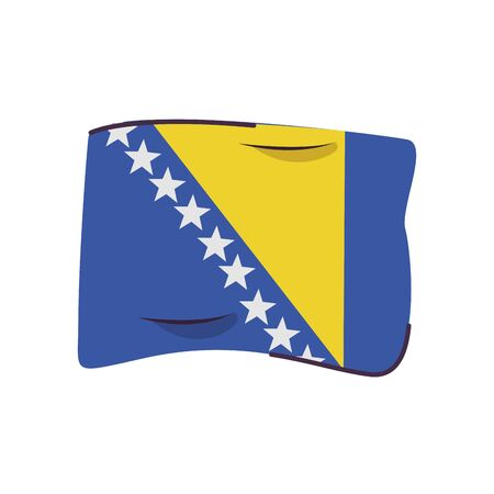 bosnia and herzegovina flag country isolated icon vector illustration design