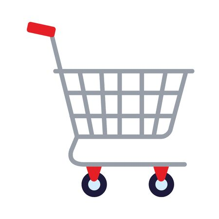 shopping cart commercial isolated icon vector illustration design 向量圖像
