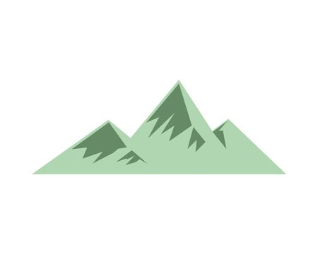 mountains ice nature canadian icon vector illustration design
