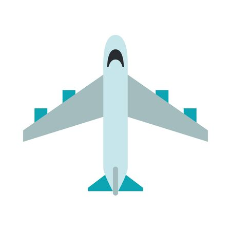 airplane flying transport isolated icon vector illustration design