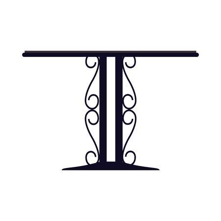 elegant wrought iron table icon vector illustration design