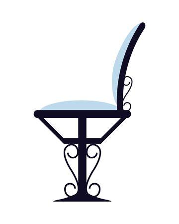 elegant wrought iron chair icon vector illustration design