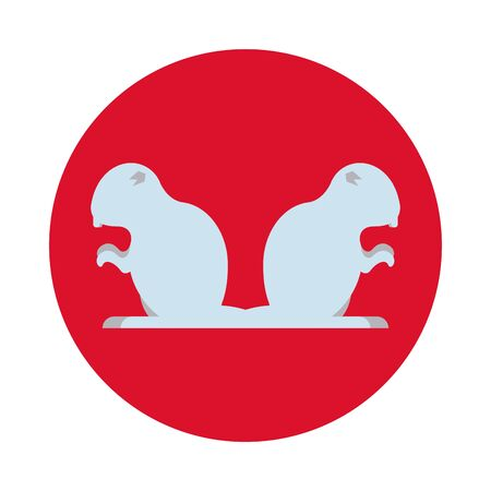 beavers animals rodents silhouettes icons vector illustration design Stock Illustratie