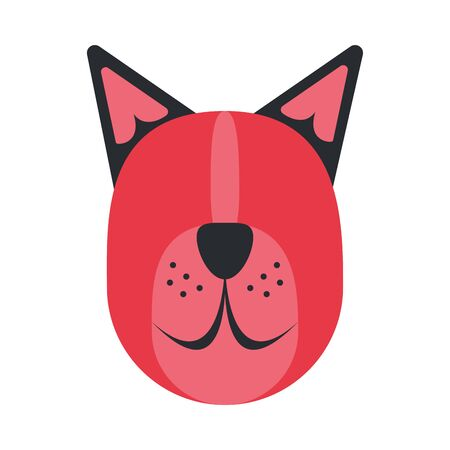 cute dog mascot head character vector illustration design