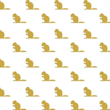 beavers animals rodents silhouettes pattern vector illustration design