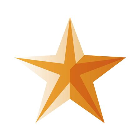 golden star quality isolated icon vector illustration design