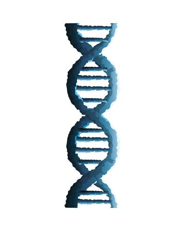 dna molecule genetic structure icon vector illustration design Illustration