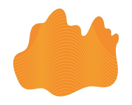 orange abstract figure background vector illustration design