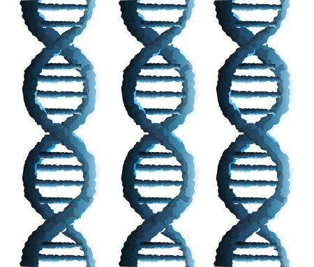 dna molecules genetic structure icon vector illustration design