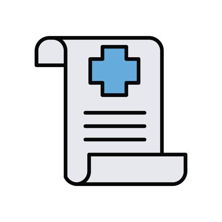 medical order paper line and fill style icon vector illustration design Ilustracja