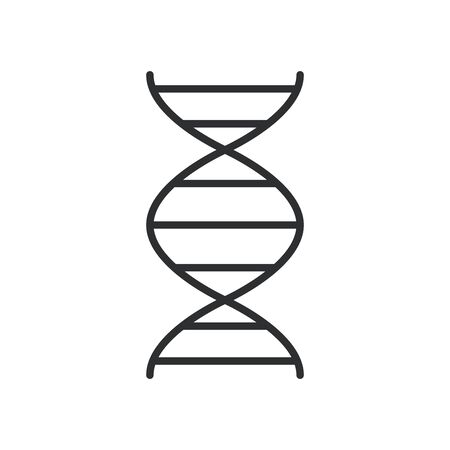 dna molecule line style icon vector illustration design