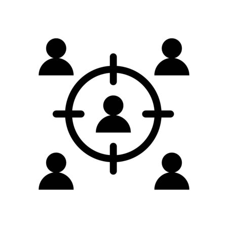 teamwork people with target silhouette style icon vector illustration design